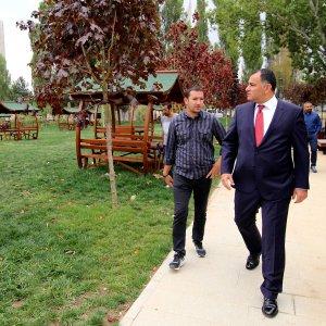 Başkan Bölgede Lozanpark İsmet İnönü Parkı İnşaatı